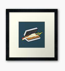 Rubber Chicken & Waffles Framed Print