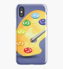 paint and brush iPhone Case/Skin