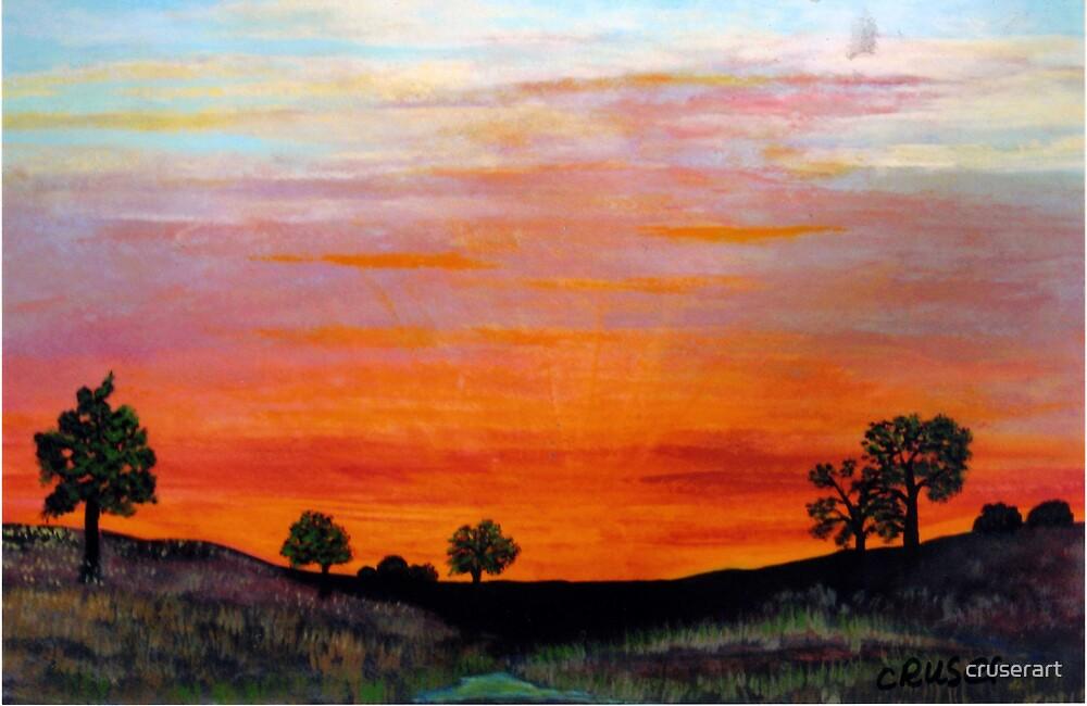 North Dakota Sunset by cruserart
