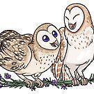 Lavender Owls by lightningmoth
