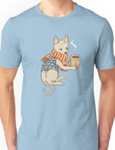 Sphynx cat with a cup of tea Unisex T-Shirt