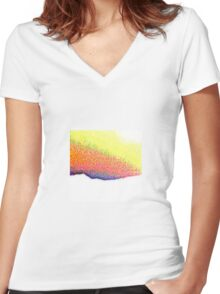 Puy de dome Women's Fitted V-Neck T-Shirt