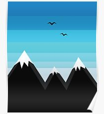 mountains illustration Poster