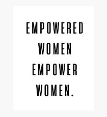 Lámina fotográfica mujeres empoderadas empoderan a las mujeres