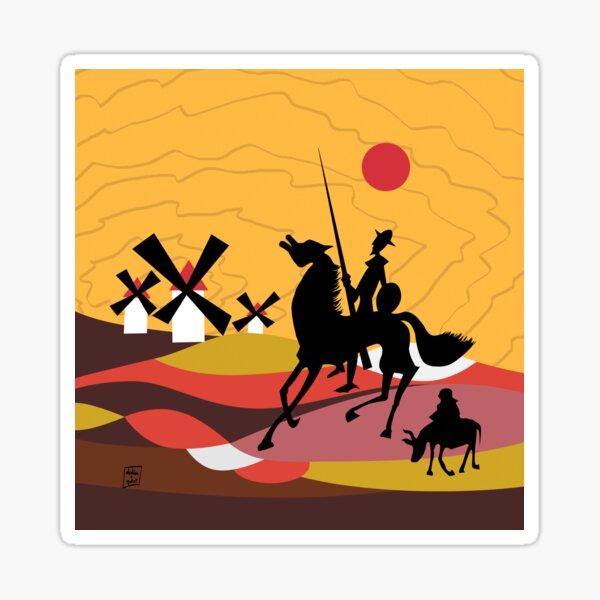 Don Quixote of the Mancha and Sancho Sticker