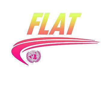 FLAT - Flat Earth Designs - Swoosh Sports Logo Map Eye by flatearth1111