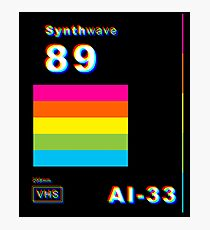 Synthwave Slip Cover Photographic Print