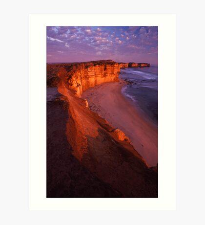 cliffs edge Art Print