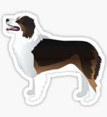 Australian Shepherd Dog Breed Illustration Silhouette Sticker