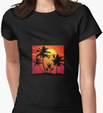 sunset1 Womens Fitted T-Shirt