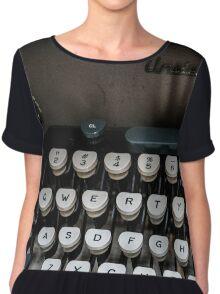 Qwerty Keyboard Chiffon Top