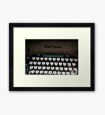 Qwerty Keyboard Framed Print