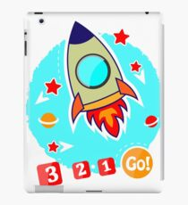 Images for printing. Rocket and stars. iPad Case/Skin