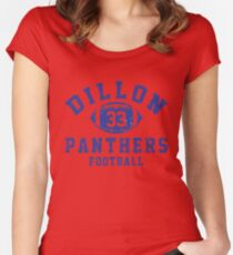 Dillon 33 Panthers Football Women's Fitted Scoop T-Shirt