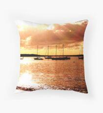 sailing the morning  Throw Pillow