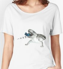 Cosmic Blue Tongued Lizard Women's Relaxed Fit T-Shirt