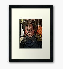 Stained Glass Consulting Detective Framed Print