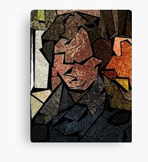 Stained Glass Consulting Detective Canvas Print