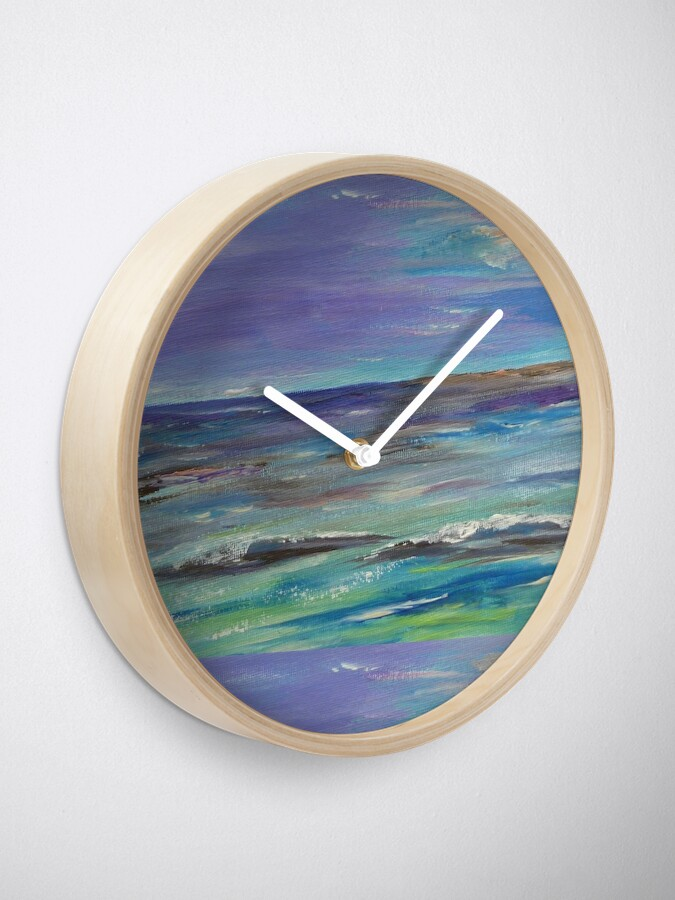 Alternate view of Colorful waves Clock
