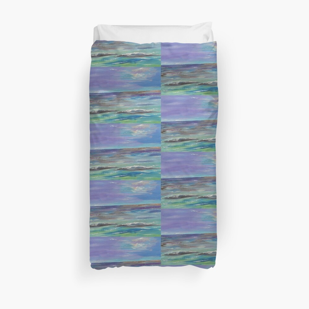 Colorful waves Duvet Cover