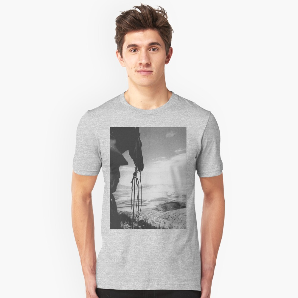 man and his horse Unisex T-Shirt Front