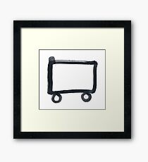 Hobo Sign - 057 - Railroad Framed Print