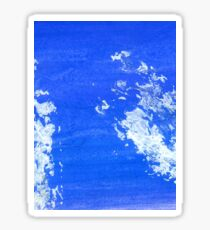 Painted Blue Texture Sticker