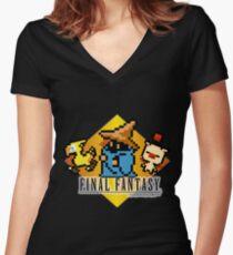 Final Fantasy bits Women's Fitted V-Neck T-Shirt
