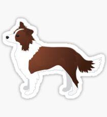 Border Collie Red Dog Breed Illustration Silhouette Sticker
