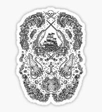 Narwhal Tattoo Print by Teja Jamilla Sticker