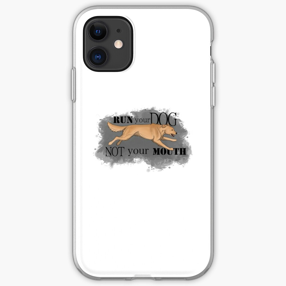 Run Your Dog Not Your Mouth Golden Retriever Light iPhone Case & Cover