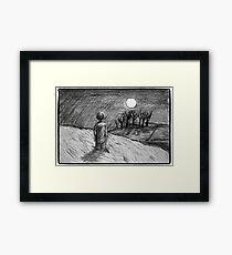 'Barefoot Child, Climb Towards the Moon'  Framed Print