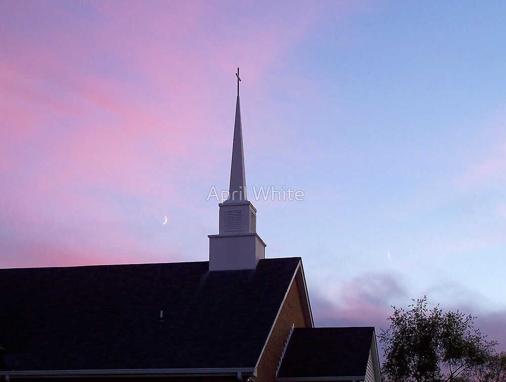 Sunset Steeple by April White