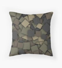 Square camouflage Throw Pillow