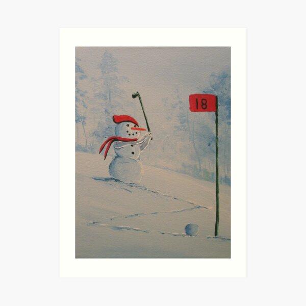 Winter Golfing in Michigan Art Print