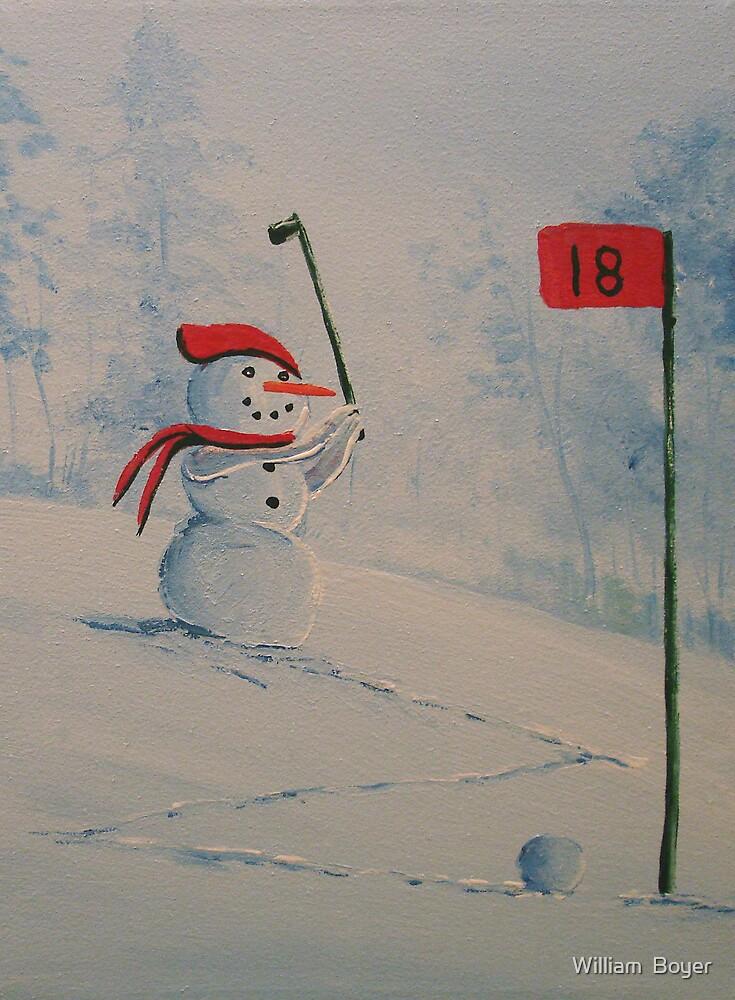 Winter Golfing in Michigan by William  Boyer