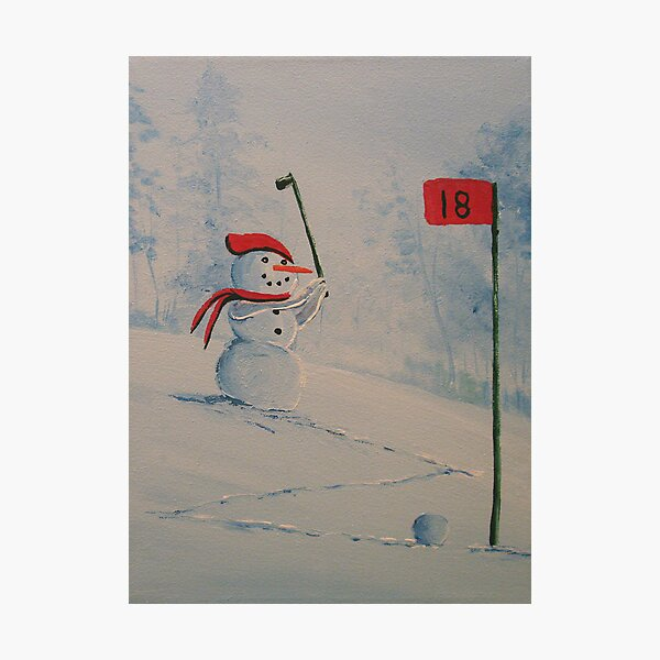 Winter Golfing in Michigan Photographic Print