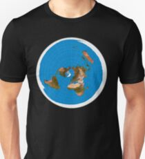 Flat Earth Map - #1 Azimuthal Equidistant Projection T-Shirt