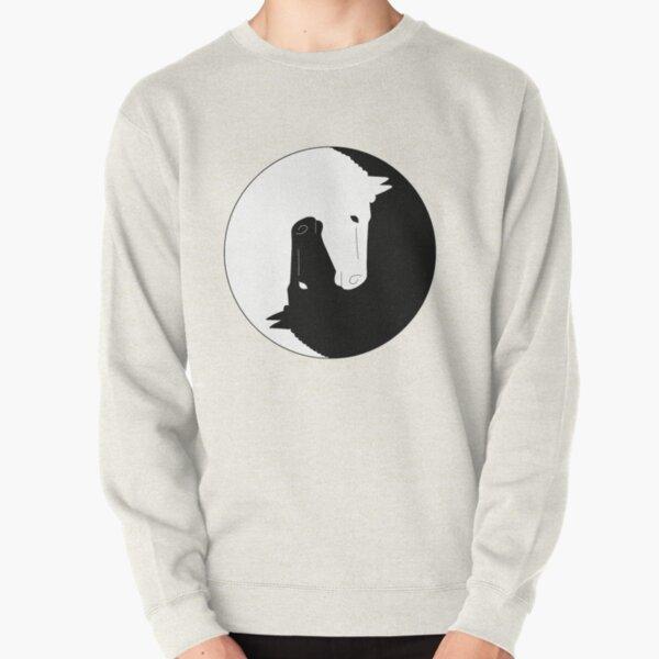 Horse yin yang Pullover Sweatshirt
