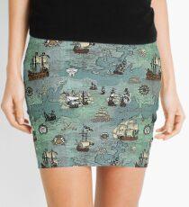 Piratenkarte nautischen Seedruck Minirock