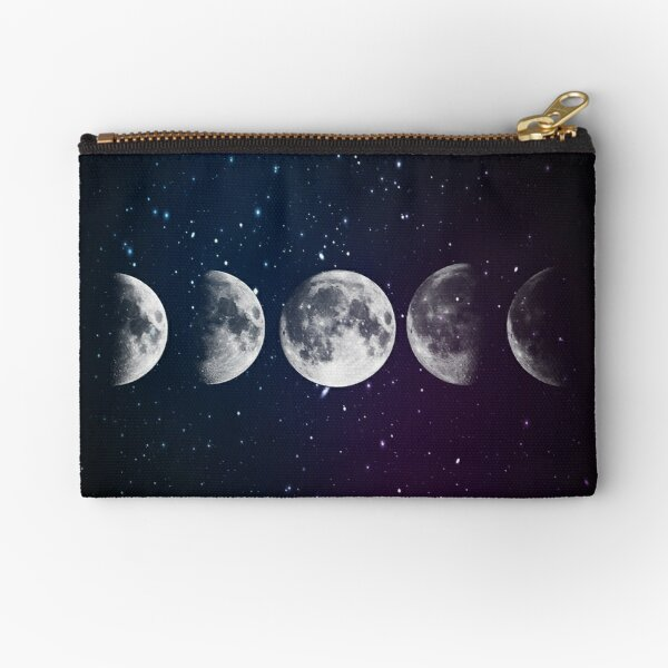 Phases of the Moon Zipper Pouch