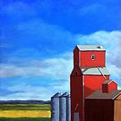 Standing Tall - rural countryside farm landscape by LindaAppleArt