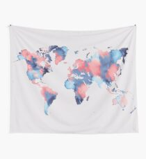 world map 58 Wall Tapestry