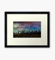 Starry Country Night Sky in Ink Framed Print