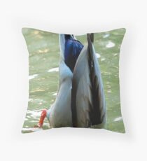 Bottom's Up Dabbling Duck Throw Pillow