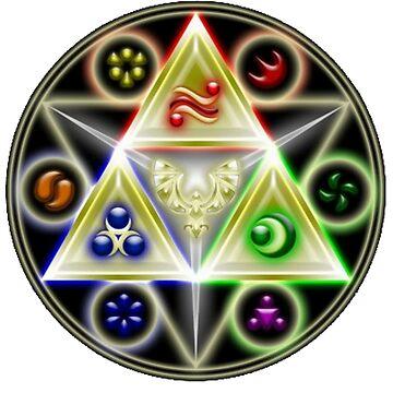 The Legend of Zelda: Ocarina of Time - Spiritual StoneTriforce! by FilipeFL3