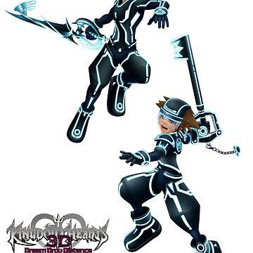 Kingdom Hearts: Dream Drop Distance The Grid version Sora & Riku by FilipeFL3