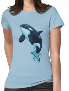 """The Matriarch"" Killer Whale ~ Orca ~ J2 Granny ~ Watercolor Womens Fitted T-Shirt"
