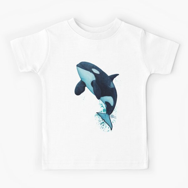 """""""The Matriarch"""" by Amber Marine ~ killer whale / orca watercolor painting, (J2 Granny) art © 2016 Kids T-Shirt"""