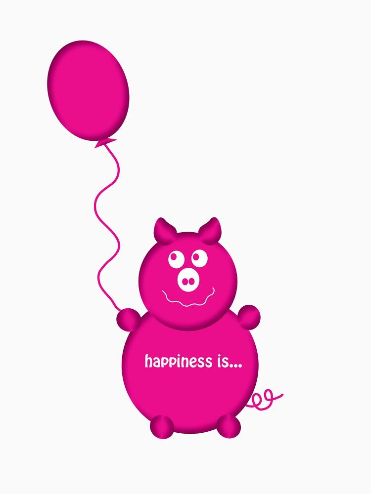 happy pink pig by hscott13